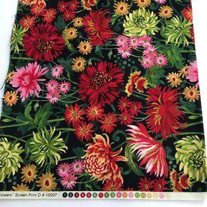 "Jennifer Brinley ""Fall Flowers"" Craft Fabric 51x45"